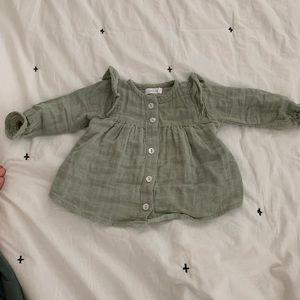Jamie Kay Ava blouse Sage 0-3 months